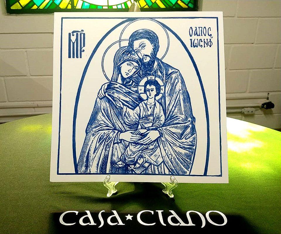 Placa em azulejo Sagrada Família